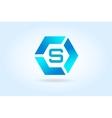 S letter icon template Super symbol vector image