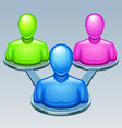 user group icon vector image