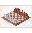 Isometric chess piece chessmen vector image