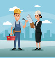 character woman manager employee construction vector image