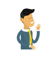 nice man with tie and sweater wear vector image