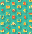 Social Networking Hexagon Pattern vector image