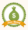 save money design vector image