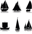 Boats silhouettes vector image vector image