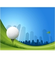 golf background vector image