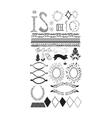 Elements of design vector image