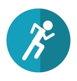 athletic runner sport active shadow vector image