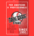 color vintage sport goods banner vector image