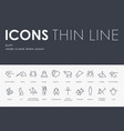 egypt thin line icons vector image