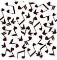 music note heart bird vector image