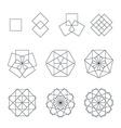 quadrangle contour various sacred geometry set vector image