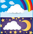 two scenes of day and night vector image