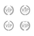 vip label set vector image