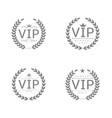 vip label set vector image