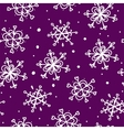 Christmas seamless pattern snowflake background vector image vector image