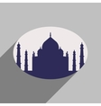 Modern flat icon with long shadow Indian Taj Mahal vector image