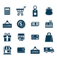 digital blue shopping sale vector image