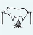Roasted pig vector image vector image