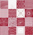 The red and white geometric pattern vector image