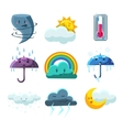Weather Forecast Pictures Set vector image