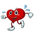 Active Cartoon Heart vector image