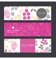 abstract pink yellow and gray leaves horizontal vector image