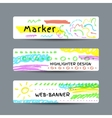 Banner with marker strokes vector image