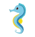 blue sea horse pet aquarium vector image