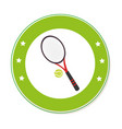 color circular frame with ball and tennis racket vector image