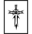 Grunge gothic cross vector image