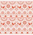 mexican folk art seamless pattern birds vector image