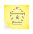 Old lantern vector image