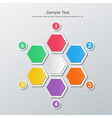 paper six step infographics vector image