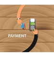 pay merchant payment debit credit card machine vector image