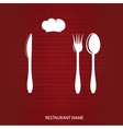 Restaurant menu with knife spoon and fork vector image