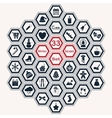 Set of polygon winter icons vector image