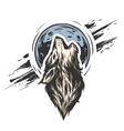 The head of a wolf on the moon vector image vector image