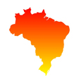 Map of Brazil vector image vector image