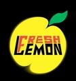 logo fresh lemon with leave vector image