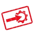Cog Integration Icon Rubber Stamp vector image