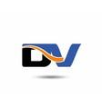 DV company linked letter logo vector image