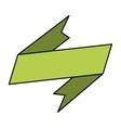 banner ribbon neon green graphic vector image