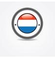 Netherlands flag in rubber stamp vector image