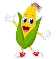 Cute corn cartoon character vector image