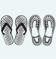 Trail boots and Flip Flop vector image