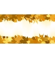 Golden autumn border made from leaves EPS 8 vector image