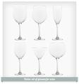 Set glass wine vector image