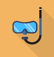 Diving mask with snorkel flat icon vector image