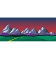 Cartoon nature seamless horizontal landscape vector image