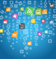 App Icons Background vector image